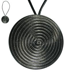 Embrasse métal-cuir spirale