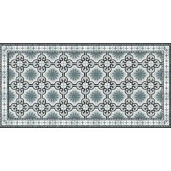 Tapis PVC motif gris -...